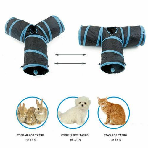 Collapsible Tunnel/Bag Shape 3 Way Cat Toy~U