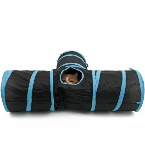 Collapsible Pet Rabbit Tunnel/Bag Y Shape 3 Way Interactive Tunnel Toy~U