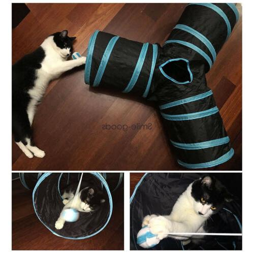 collapsible pet cat rabbit tunnel bag y