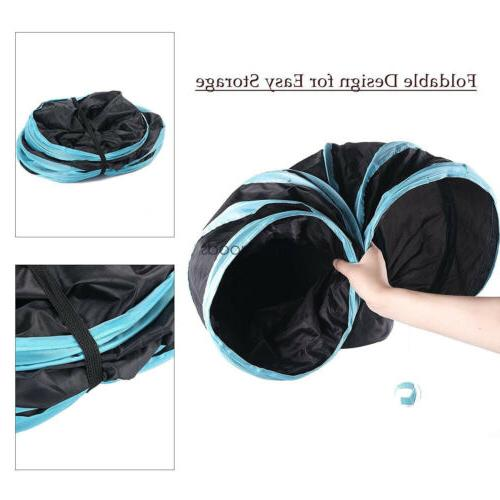 Collapsible Cat Tunnel/Bag Y 3 Way Interactive Toy~U