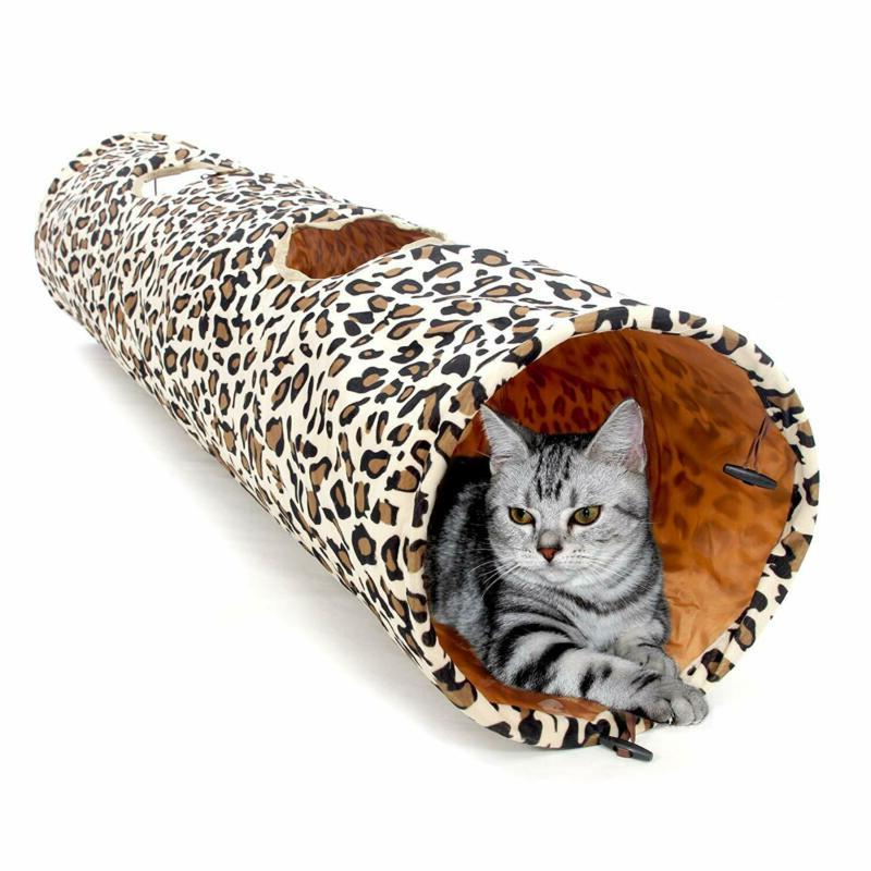 collapsible tunnel dog tube for fat cat
