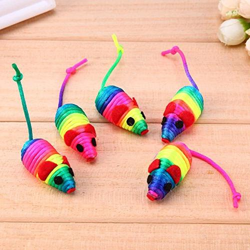 UEB 5pcs Mouse Pet Squeaker Playing Toy