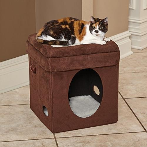 """MidWest """"The Cat Cube, House / Condo Synthetic Sheepskin"""