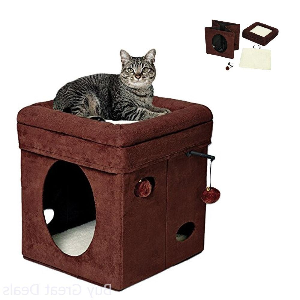 """MidWest """"The Curious Cat Cube, / in Brown Suede & Synthetic"""