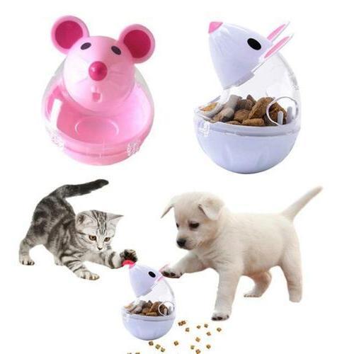 Chic Mice Shape Treat Ball Pet Cat Dog Tumbler Feeder Leakag