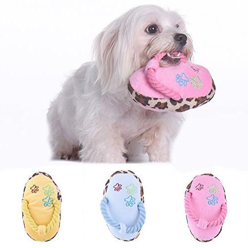 cute pet dog slipper toy