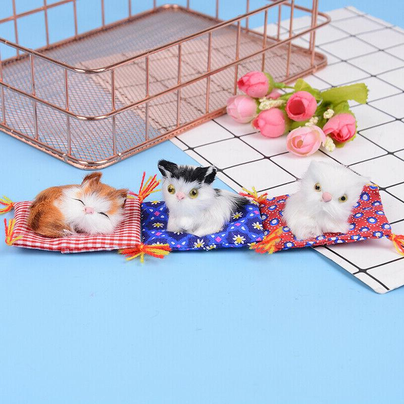 Cute sleeping cat doll gift photo toys LE