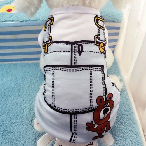 Cute Small Pet Apparel Coat Vest XS-XL