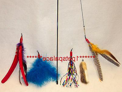 da bird feather wand cat toy