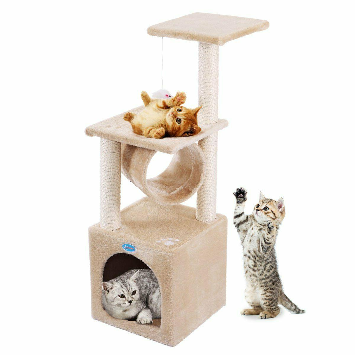 deluxe 36 cat tree condo furniture play