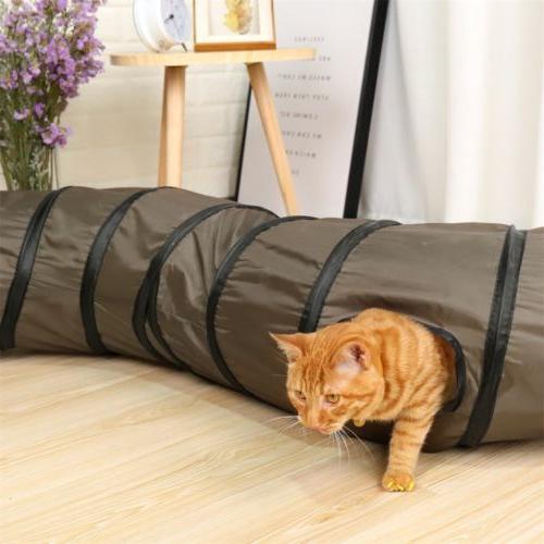 Dia Pet Cat Tunnel Ways Shape Kitten Puppy Toys Collapsible Tube