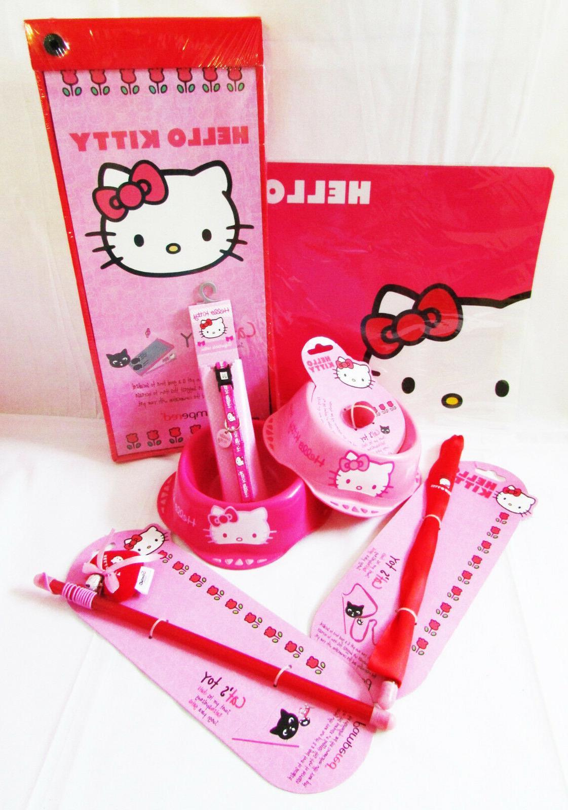 discontinued cat kitten pet pink bowls mat