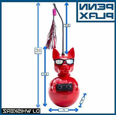 Penn Plax Dj Wireless Speaker Dancing Cat Toy Catnip