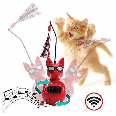 dj whiskerz wireless speaker dancing cat toy