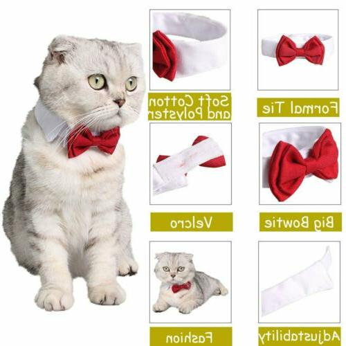 Dog Pet Puppy Necktie Clothes British Black Kitten Tie S-L