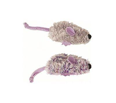 Kong Company Dog Toy Dr. Noys 2 Mice Purple Grey