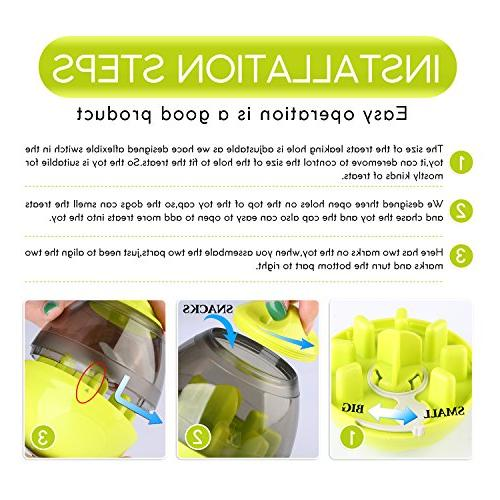 Wellood Dog Ball Toy, Ball Dogs & Cats: Mental Tumbler Clean