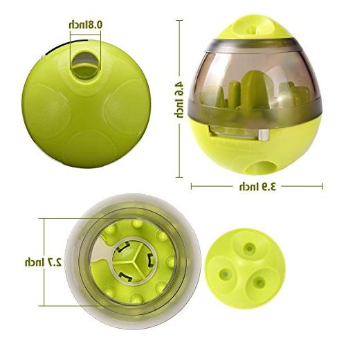 Wellood Dog Ball Toy, Ball for Dogs Cats: Mental Stimulation, Design Slow Feeder Easy Clean Green