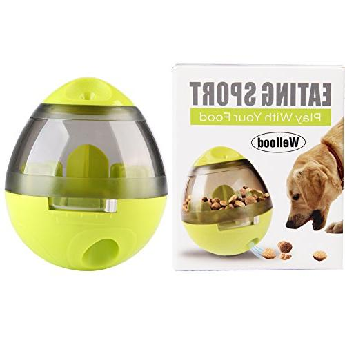 Wellood Dog Treat Ball Toy, Ball Dogs Cats: Increases IQ Mental Slow Easy Clean Green