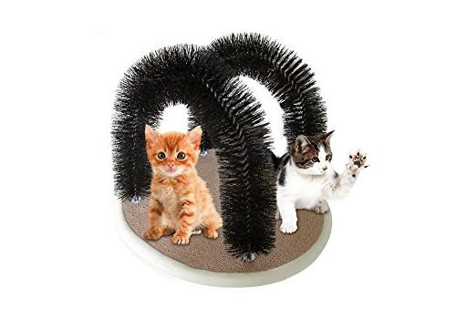 Petories DOUBLE Groomer- Premium With 2 Deshedding, Massaging & Your Cats