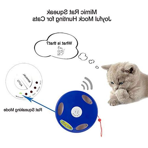 SunnyOn for Pet/Kitty/Kitten, Exercise Increase, Stress Relief, 5 Action Modes Auto Manual, Mimic Floor & Wall Installation, Tasseled Tail