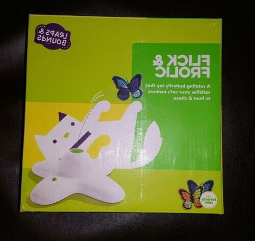 electric flutter butterfly cat toy