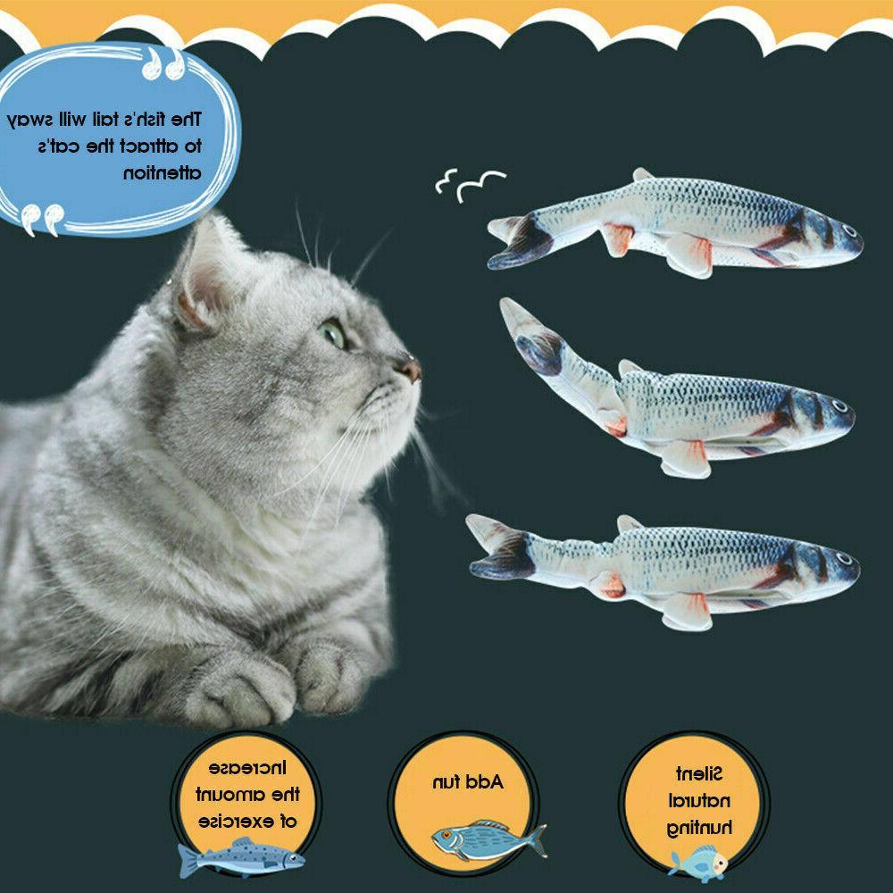 Electric Cat Fish Realistic Plush Catnip Fish USA