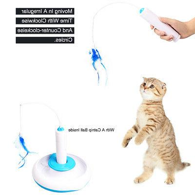 Electric Pet Toys Round Swivel Cat Wand Toy