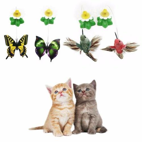 Electric Rotating Bird Rod Wire Toys Cats Kittens C