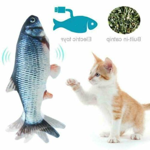 Cat Wagging Fish Toy Interactive Motion Play Pet Electronic