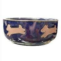 Ethical Stoneware Dish - Southwest Dog Dish- Midnight Sky 5
