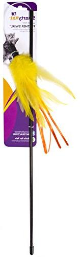 SmartyKat Feather Swirl Cat Toy Feather Wand