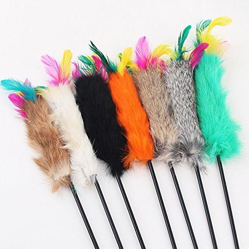 feather teaser wand pet cat