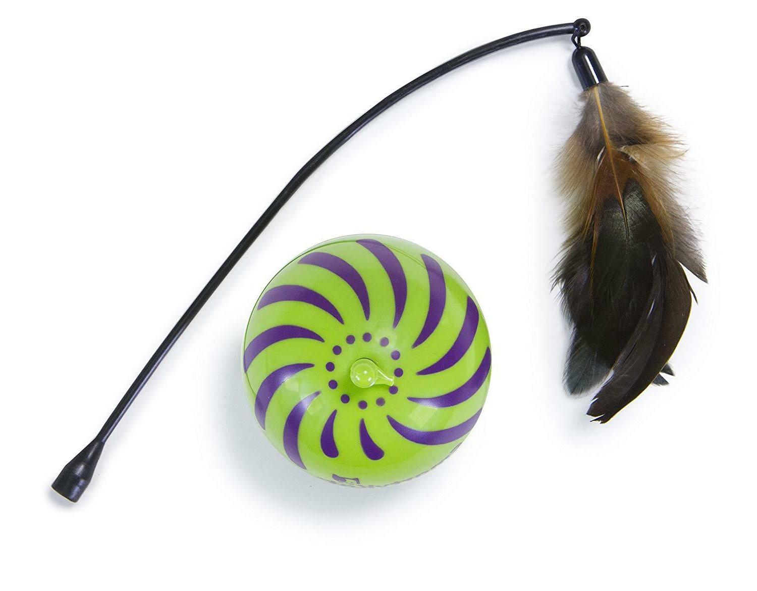 SmartyKat Feather Whirl Motion Cat Seen