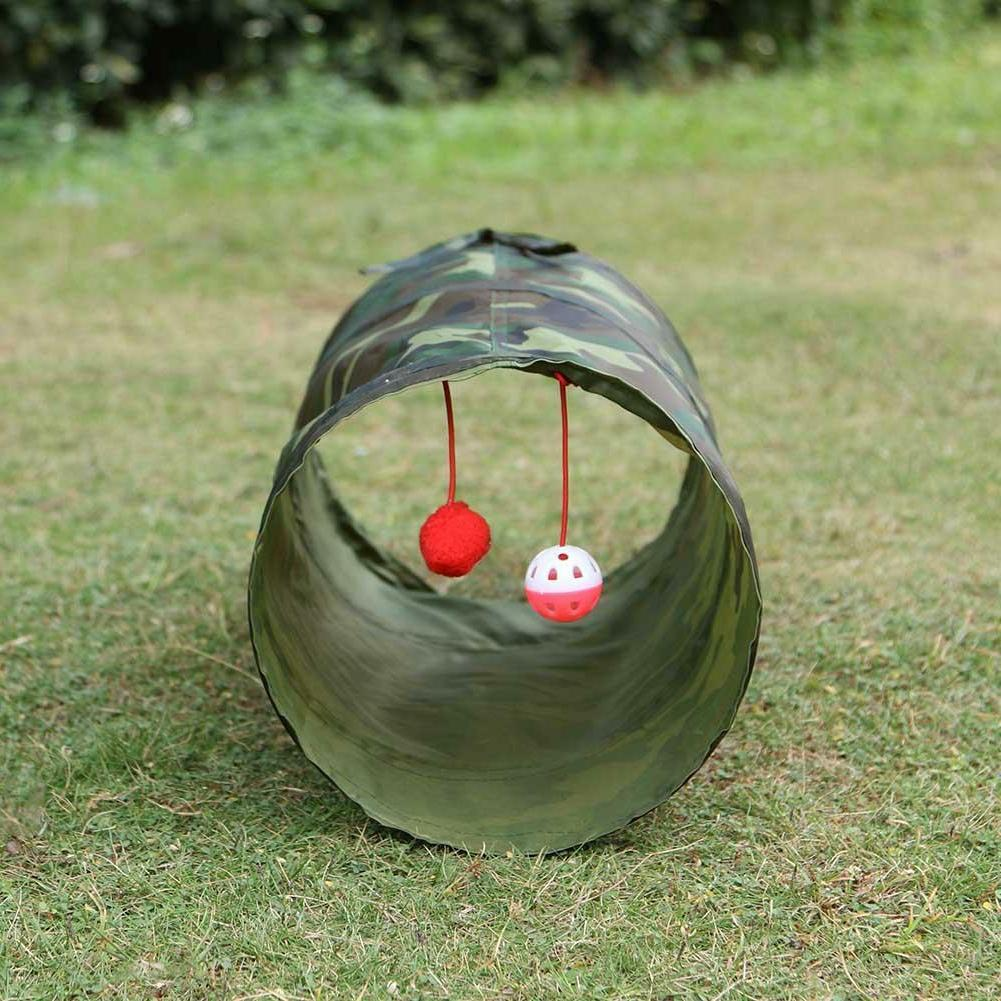 Foldable Tunnel Toys Kitten Rabbit 2 Bell Ball