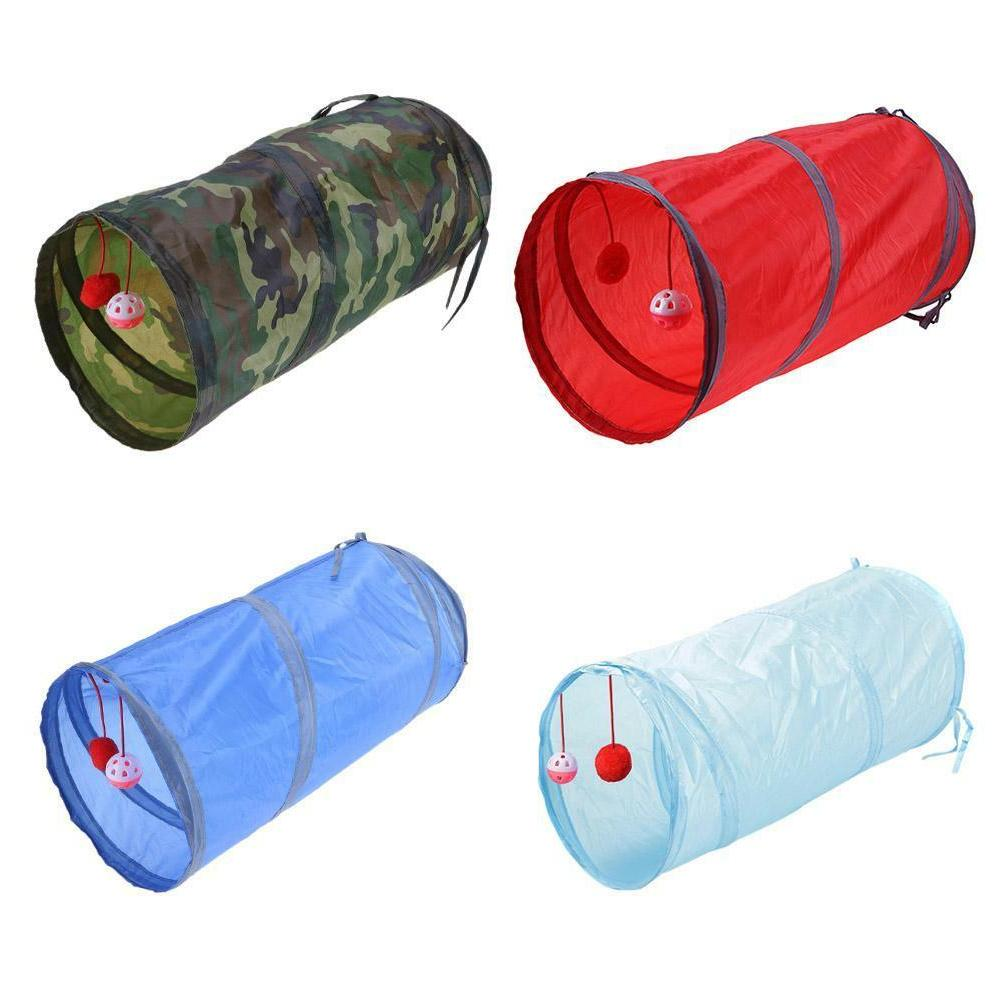 foldable pet cat tunnel toys outdoor game