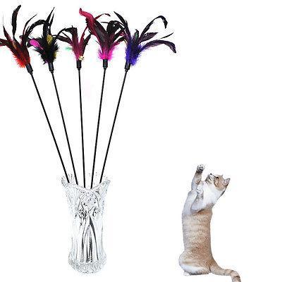 Fun Cat Feather Rod Play Pet Ball Toys