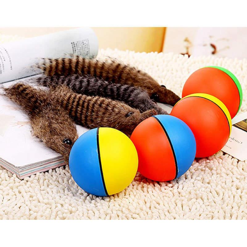 Fun Cat Rolling with Moving Toy