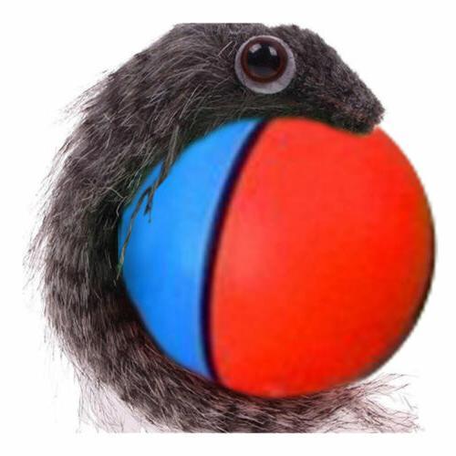 Funny Cute Pet Furry Weazel Rolling Ball Child Dog Pet Toys
