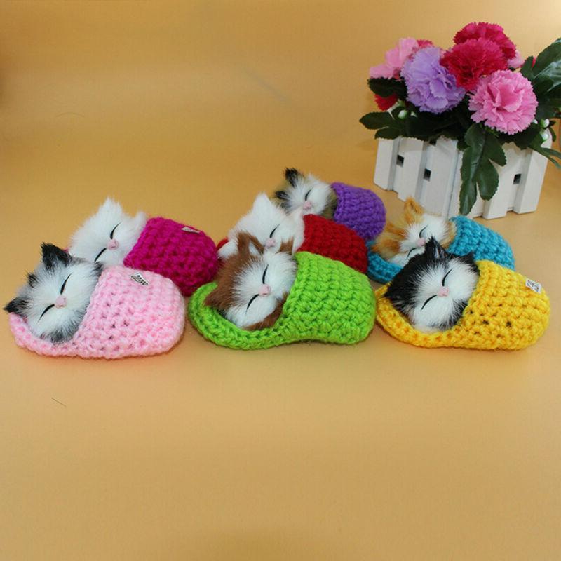 Funny Kids Lifelike Cat Doll Educational Toys