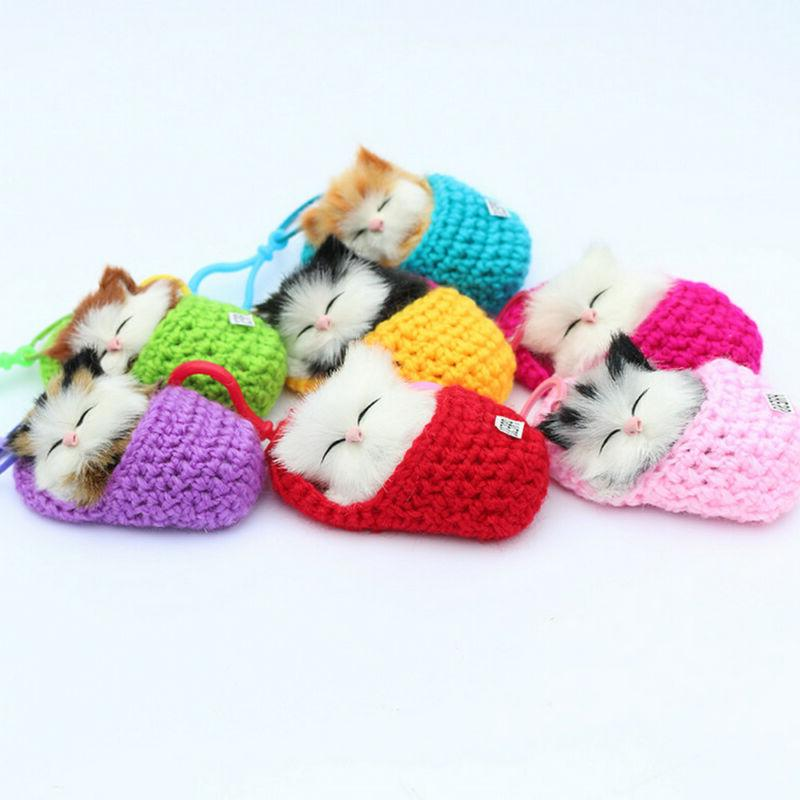Funny Kids Lifelike Plush Cat Soft