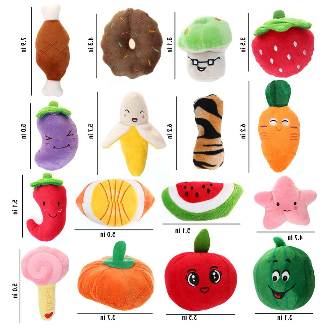 Funny Pet Cartoon Cute Bite Resistant Squeaky <font><b>Toy</b></font> Pet Interactive Partner