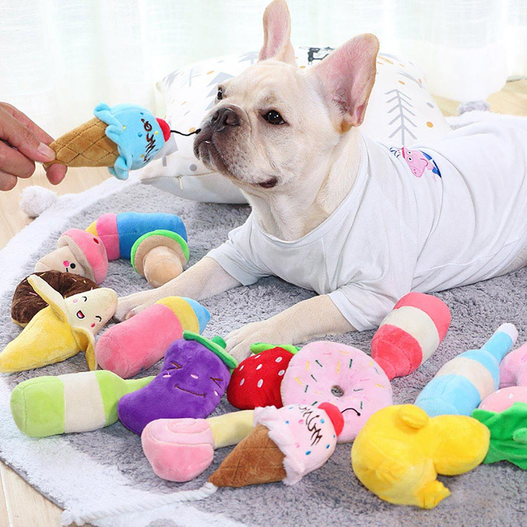 Funny Pet Cute Bite Resistant Plush Squeaky <font><b>Toy</b></font> Pet <font><b>Toy</b></font> For <font><b>Cats</b></font> <font><b>Dogs</b></font> Pet Pet Partner