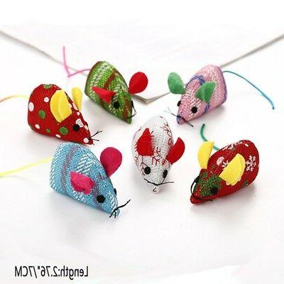 Funny Pet Mouse Mice Christmas Toys Plush Cat Playing