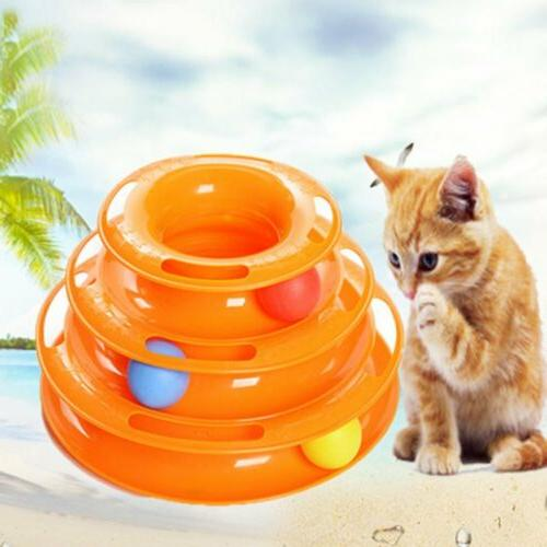 Pet Cat Toys Plate Trilaminar Crazy Ball Disk Interactive Fu