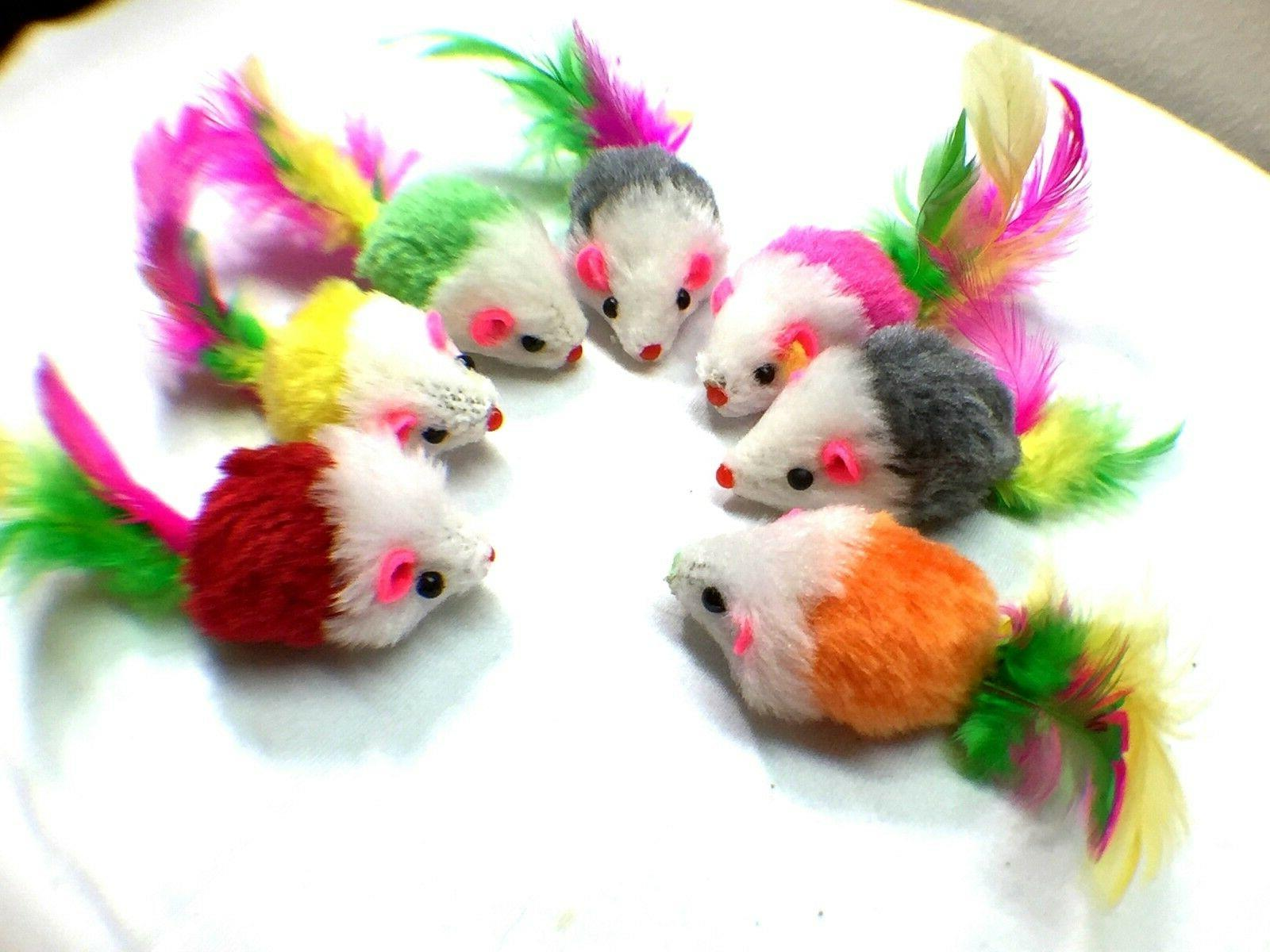 Fur Cat Soft and Durable Play , Mice for