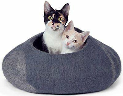 handcrafted cat cave bed