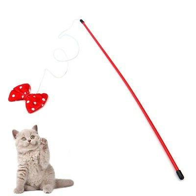 home cat wand toys retractable interactive tease