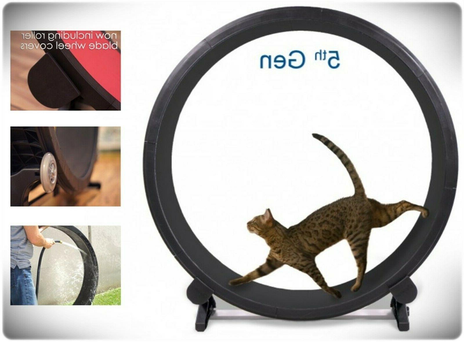 Indoor Cat Exercise Wheel Kitty Running Training Toy Treadwh
