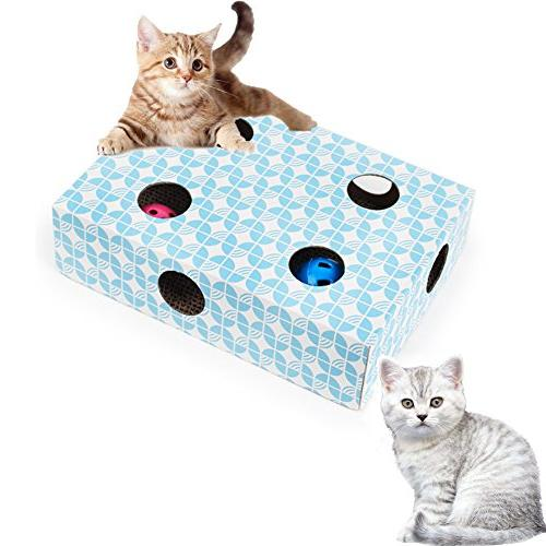 interactive cat toy puzzle feeder